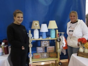 Stephanie Perry and Ginger Parrish with Ginger's County Decor